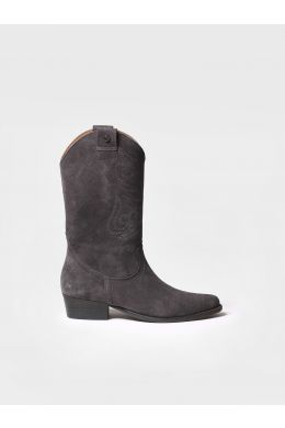 Boot for women made of gray suede - UTILA-SY