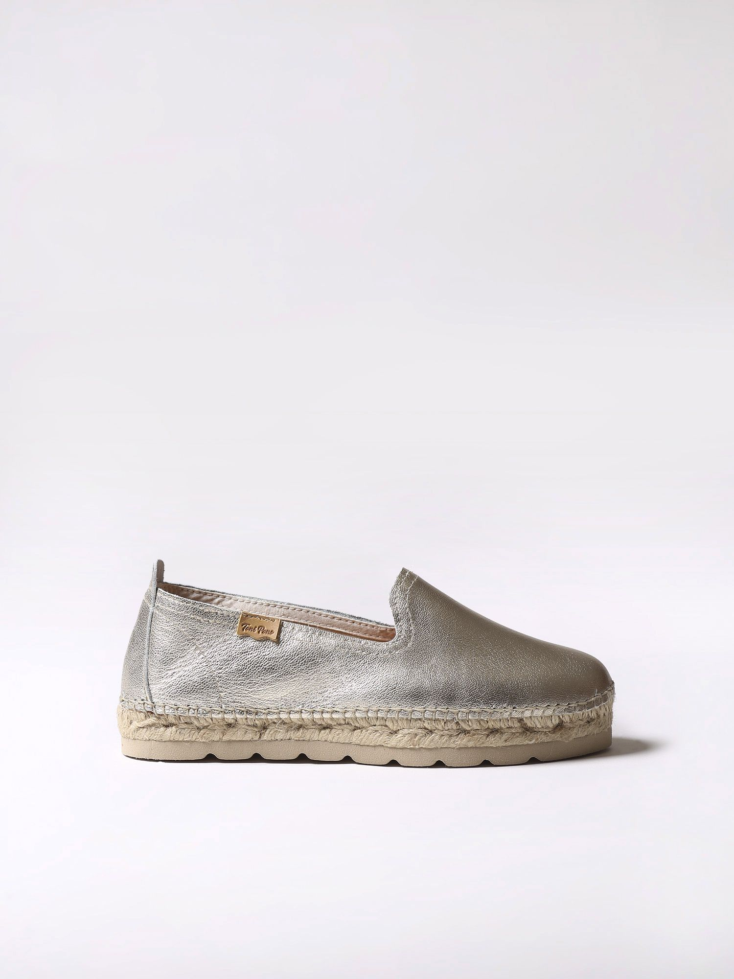Leather flat espadrille - AURORA