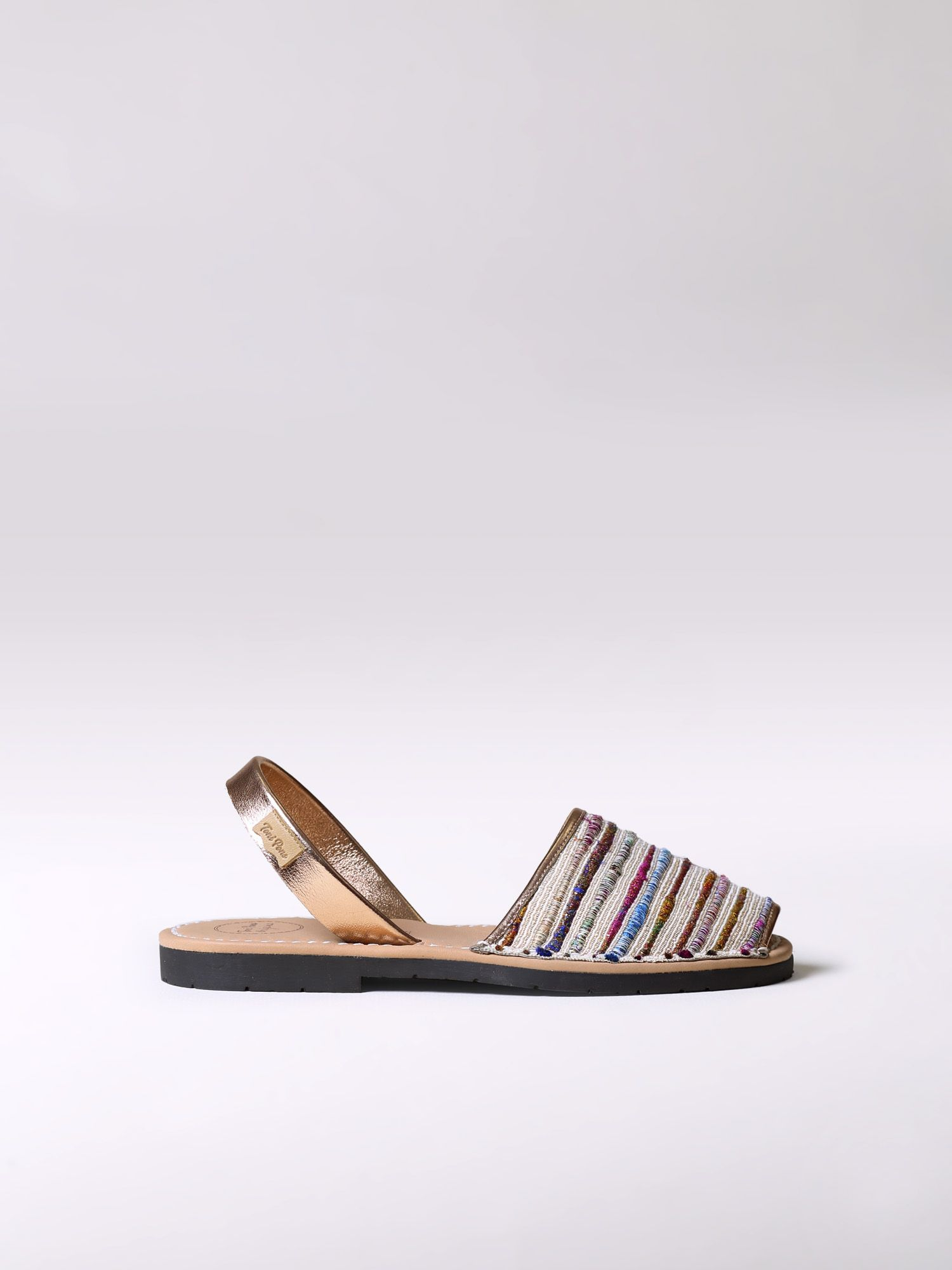 Striped avarca sandals - MAO-SN