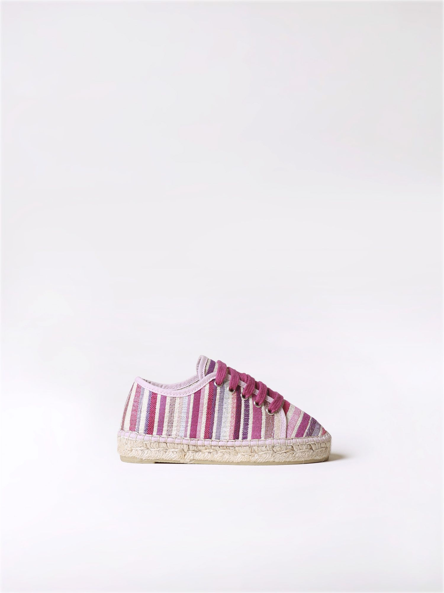 Sporty espadrilles for kids in striped canvas - EMY-MD