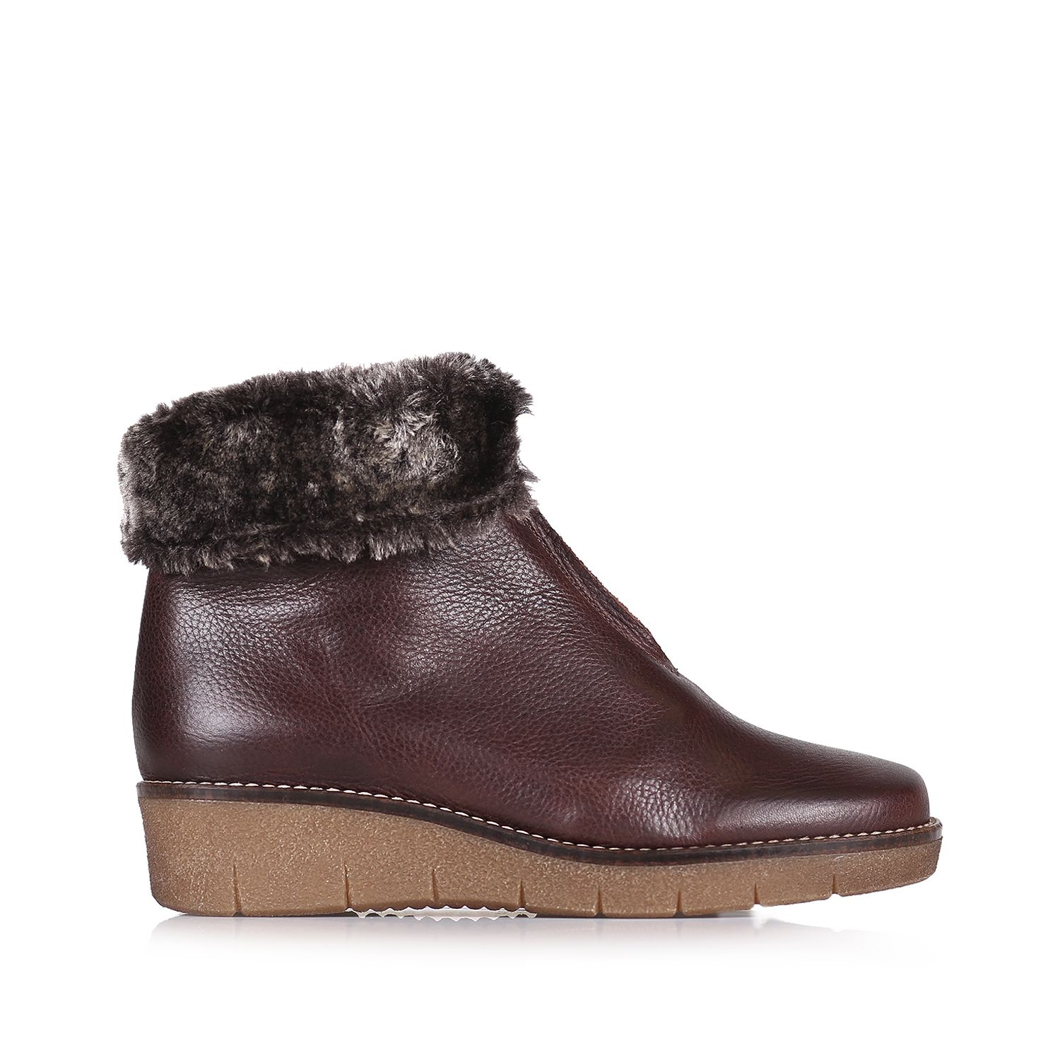 Leather booties with fur lining - ARCALIS-POF