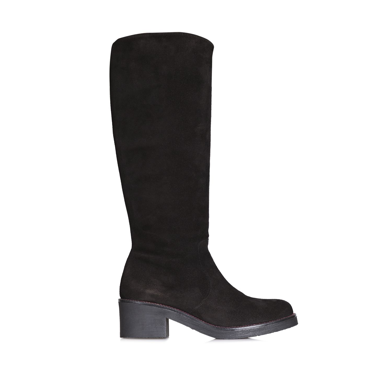 High leg boot for women in suede - PATSY-SY
