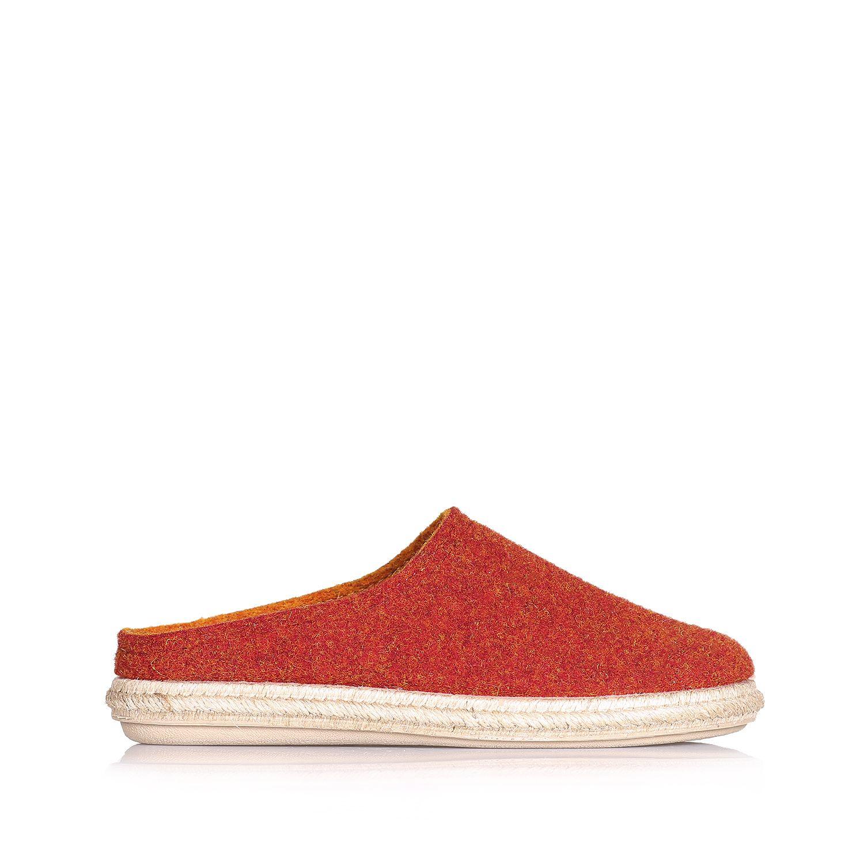 Open heel slippers in wool felt - MIRI-DB