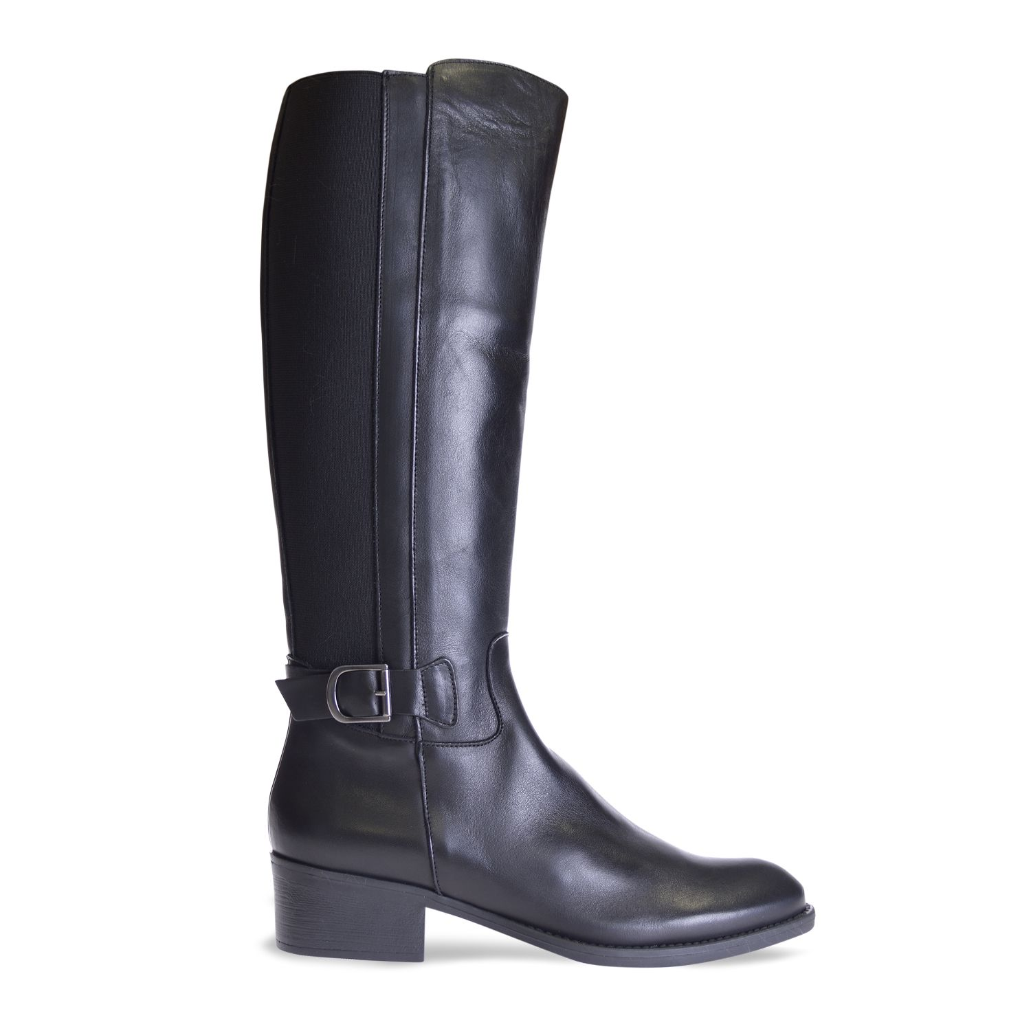 Boot for women made of black leather - TACOMA-P