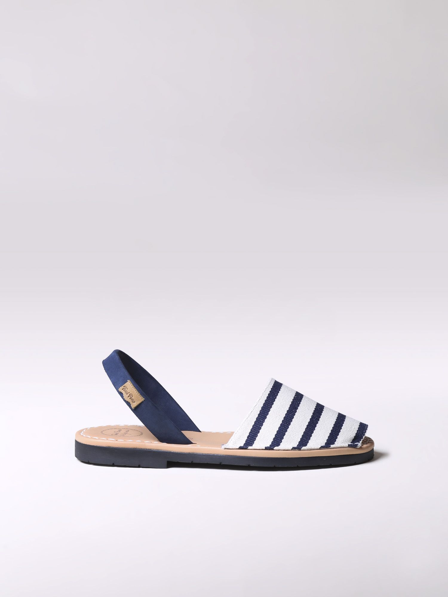 Striped menorquine sandals - MAO-BR