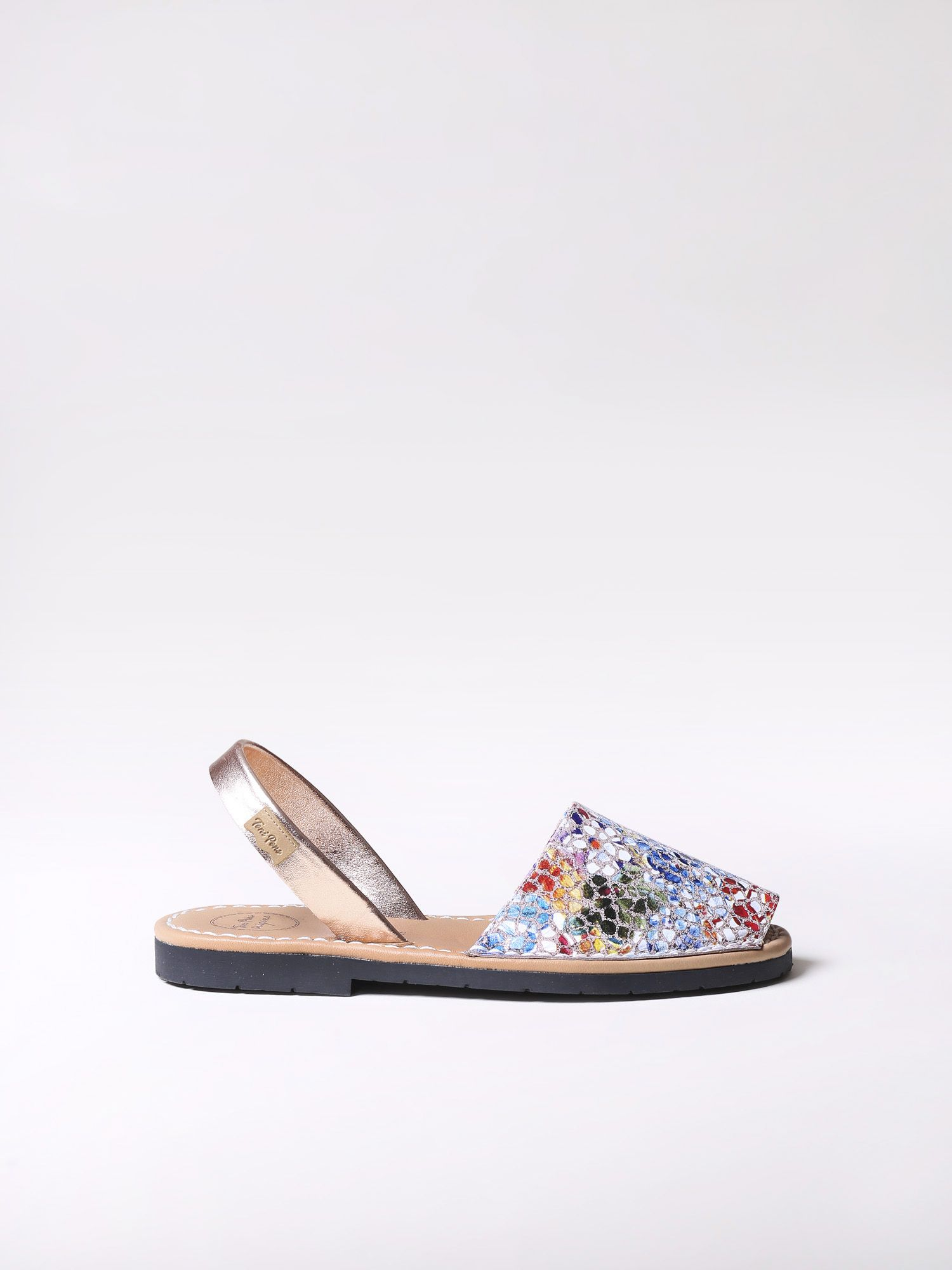 Leather avarca sandal - MAO-PM