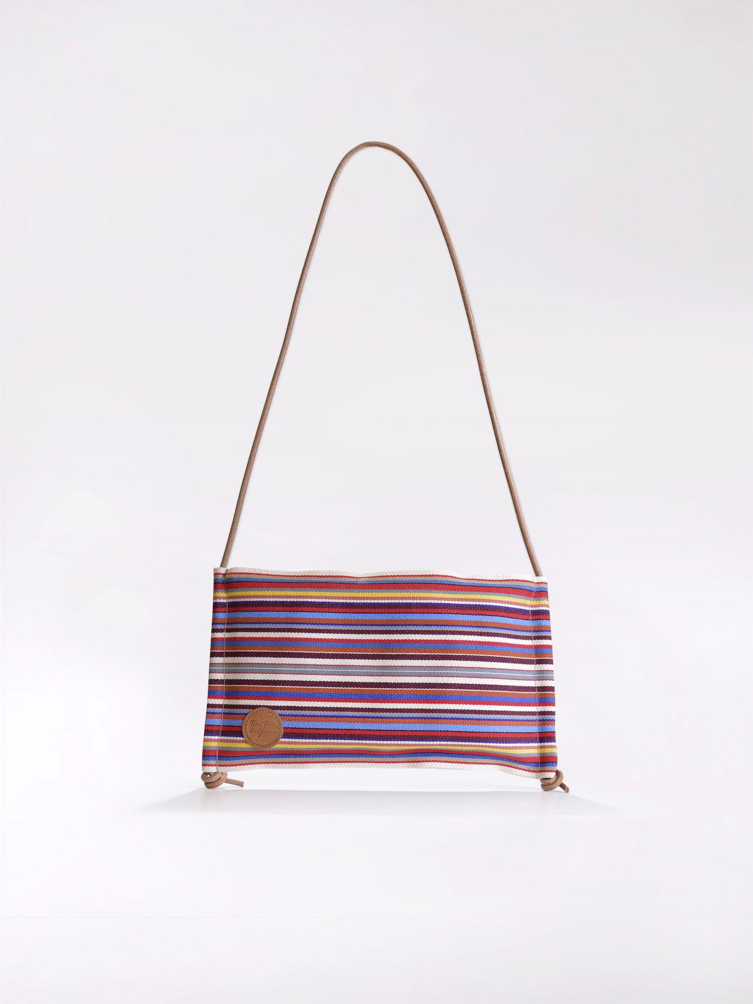 Striped cross-body bag - GEMMA
