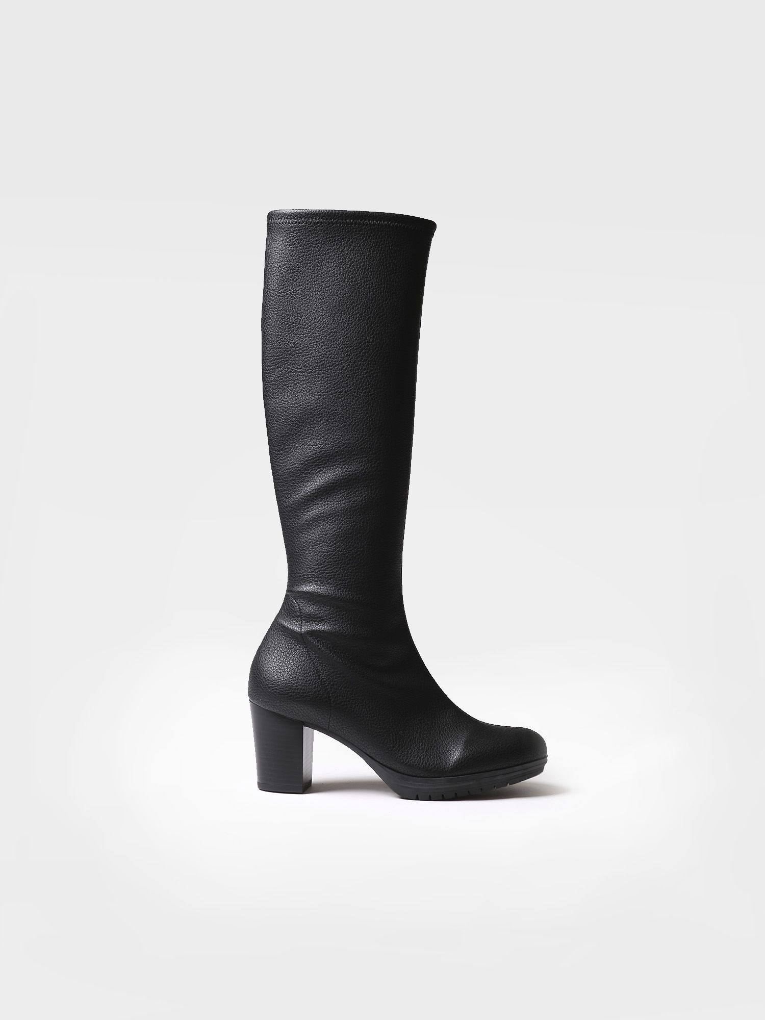 Boot for women made of black leather - FELTON-LP