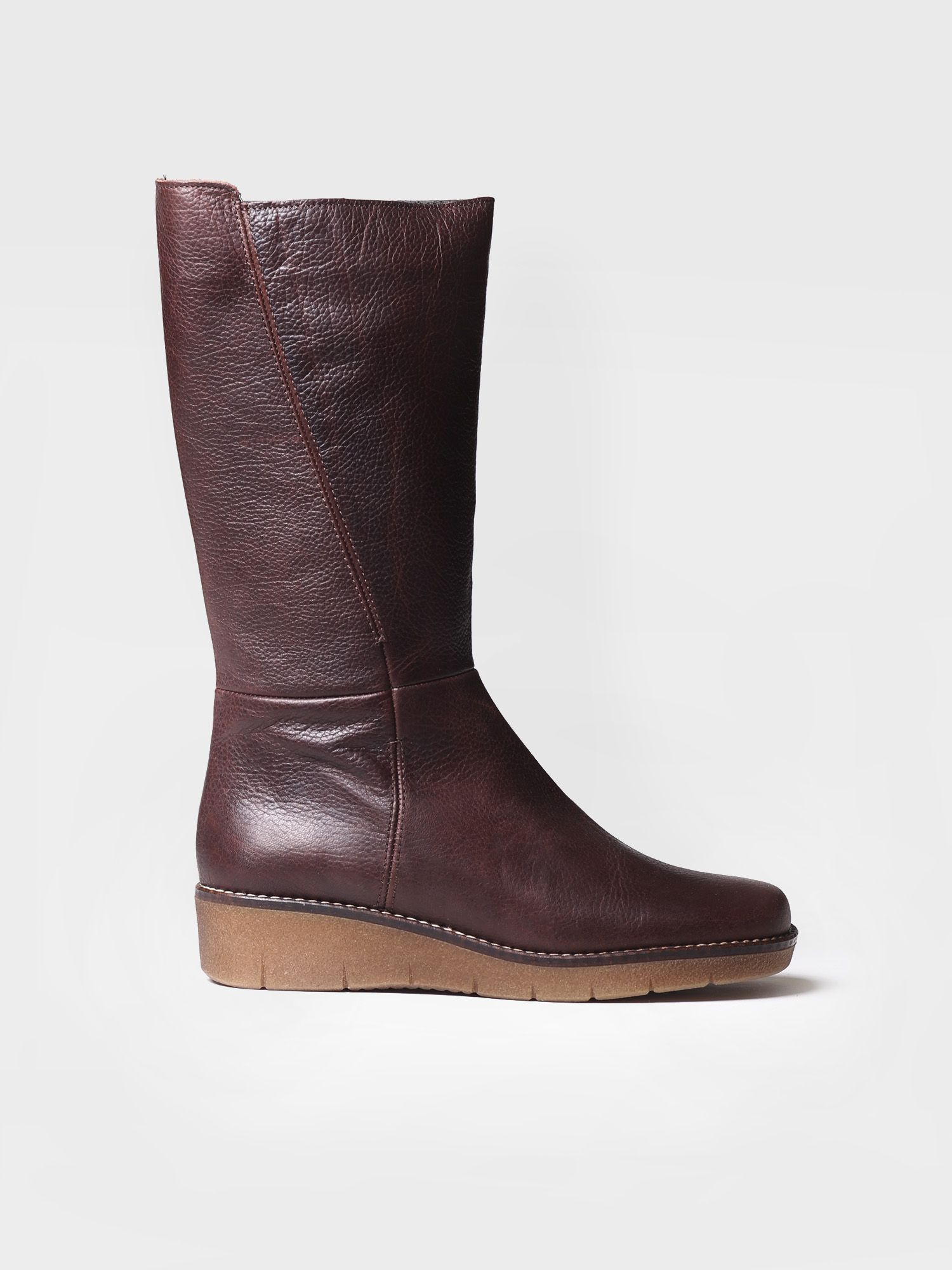 Low heel boot in leather - POBLET-PO