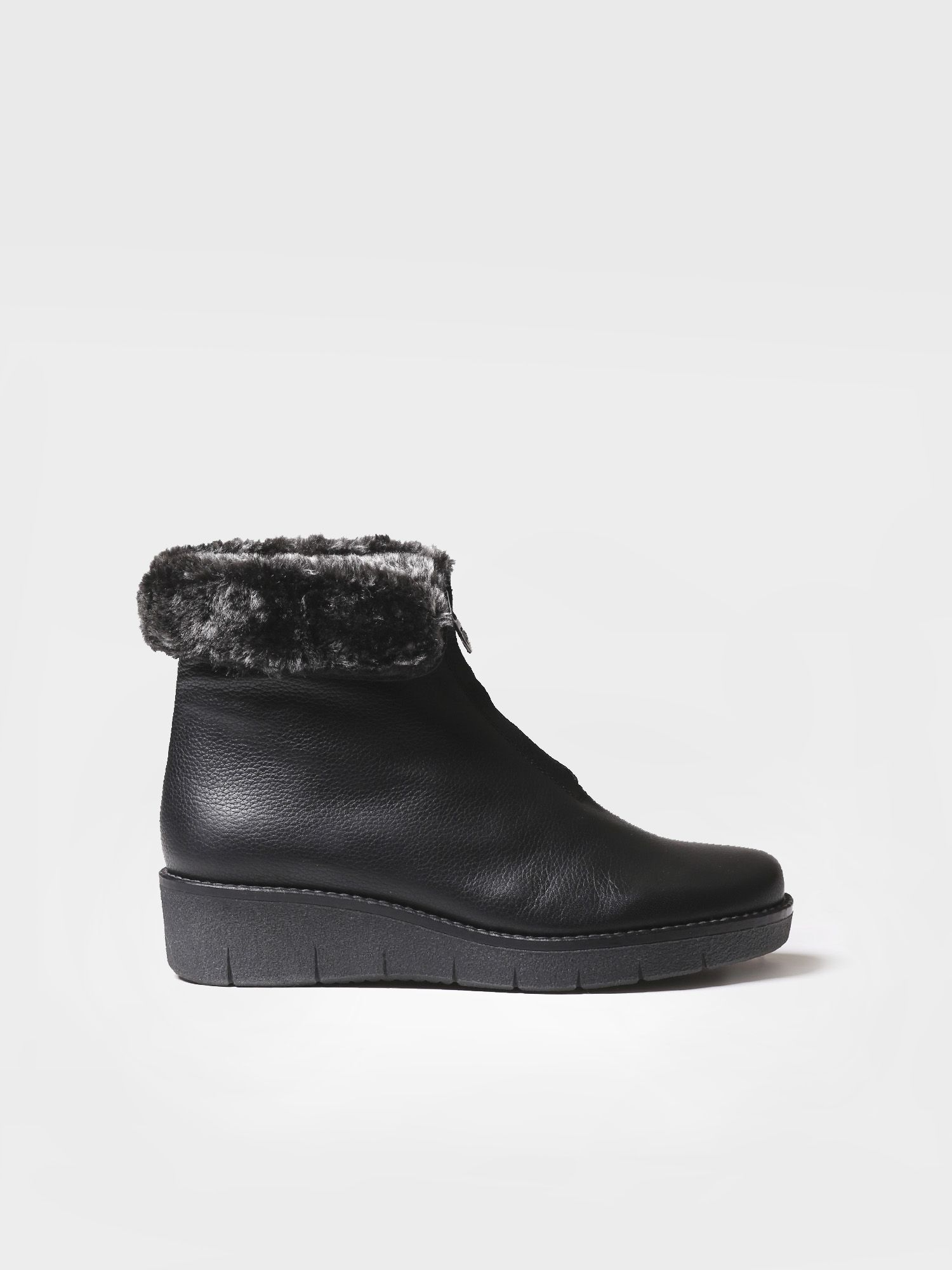 Leather booties with fur lining - ARCALIS-PO