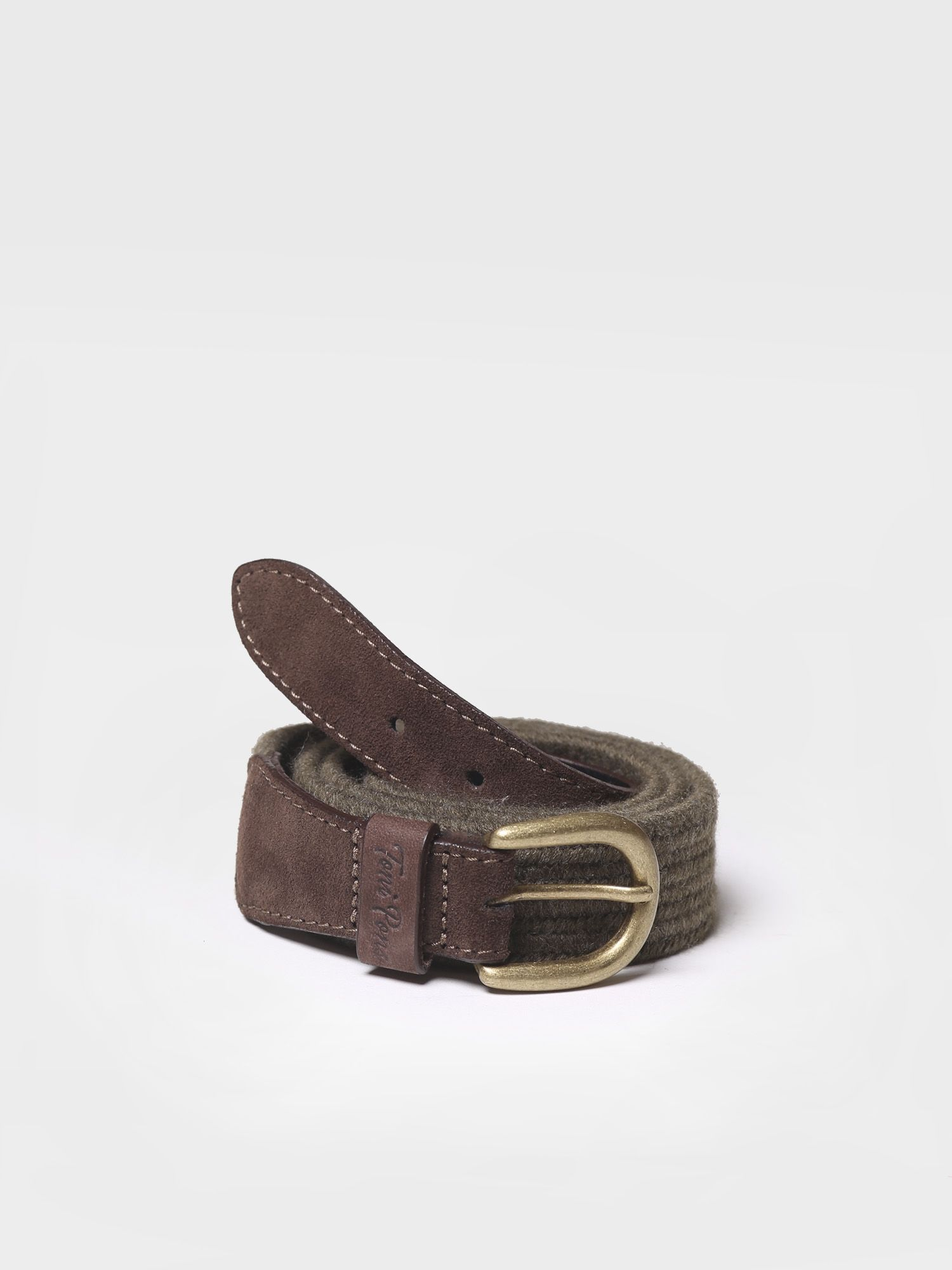 Belt in elastic fabric in khaki shades - NALA