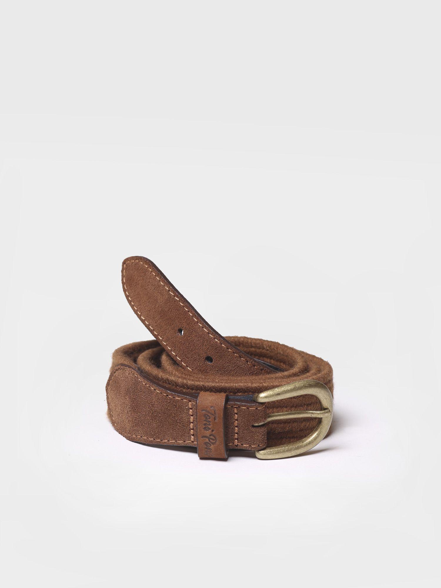 Belt in elastic fabric in tan shades - NALA