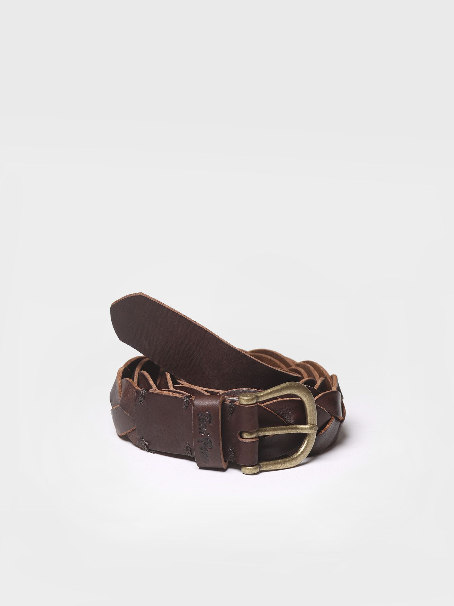 Women's belt in braided leather - NICTE