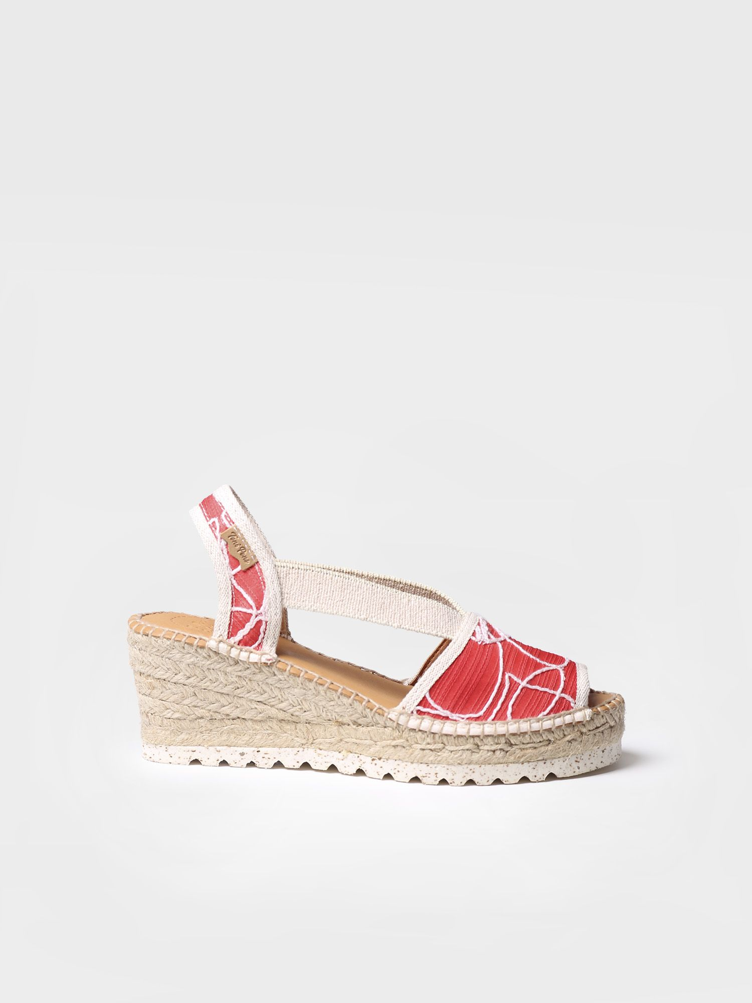 Classic espadrille in embroidered fabric - TEIDE-TA