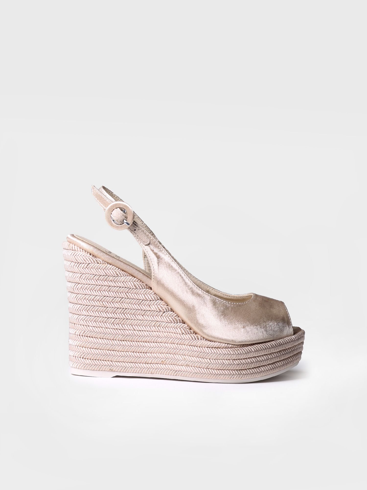 Bridal high wedge - SILVANA