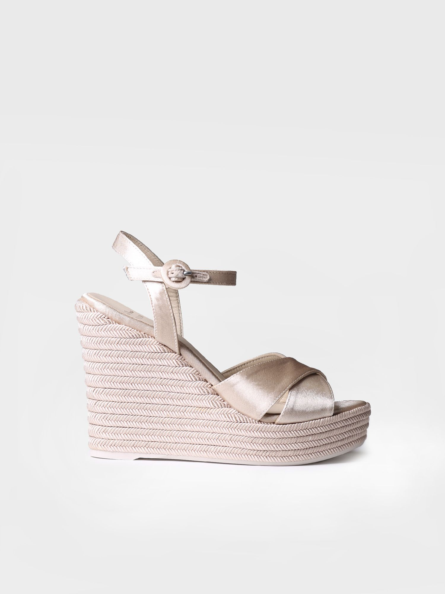 Bridal high wedge - SOFIA