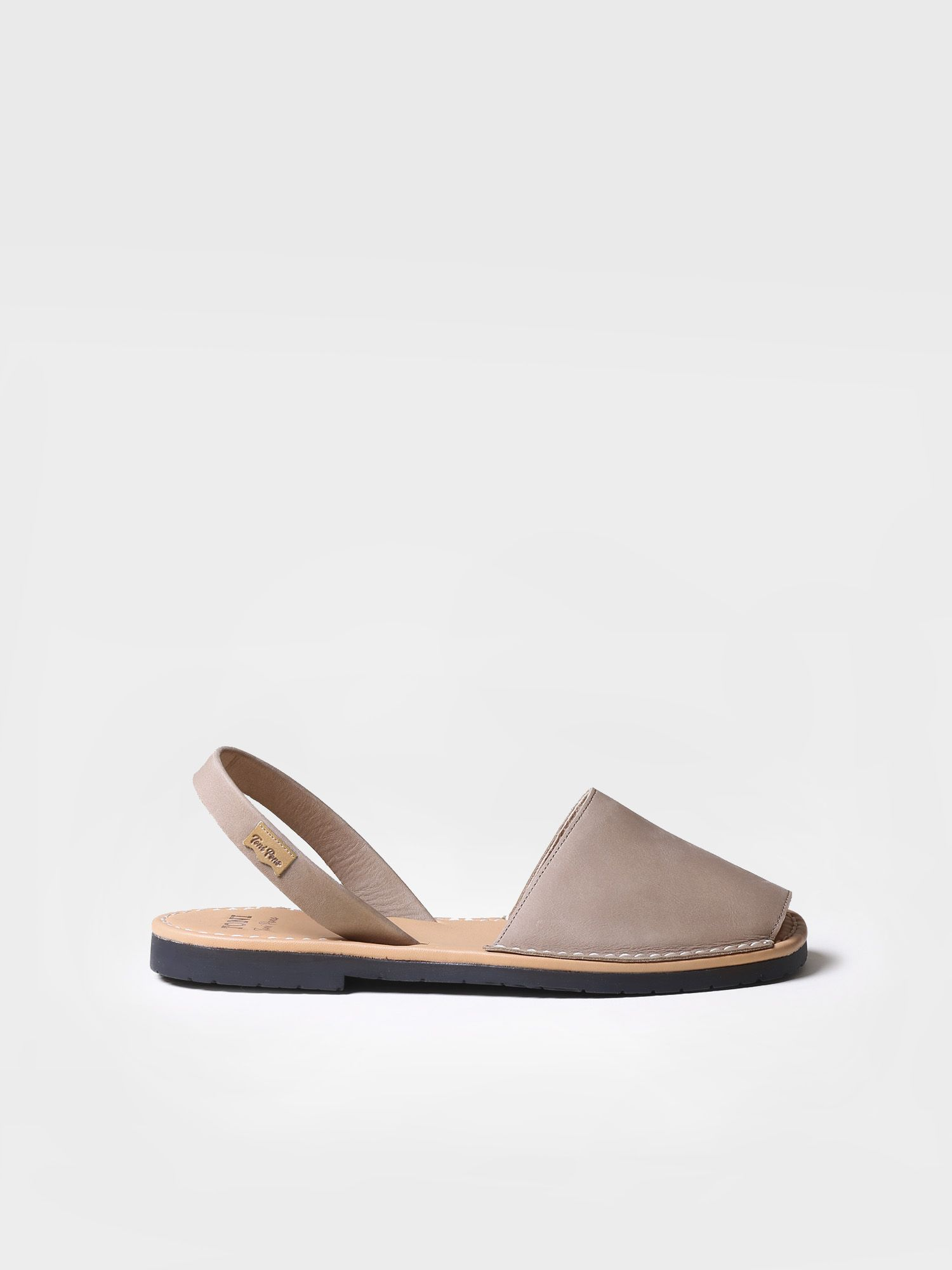 Avarca sandals leather - GRAU-P