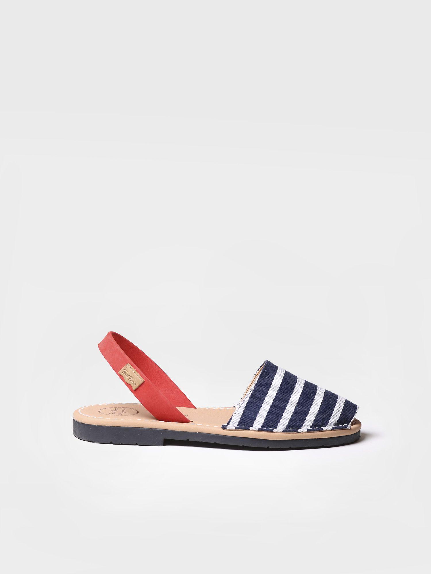 Striped menorquine sandals - MAO-BR