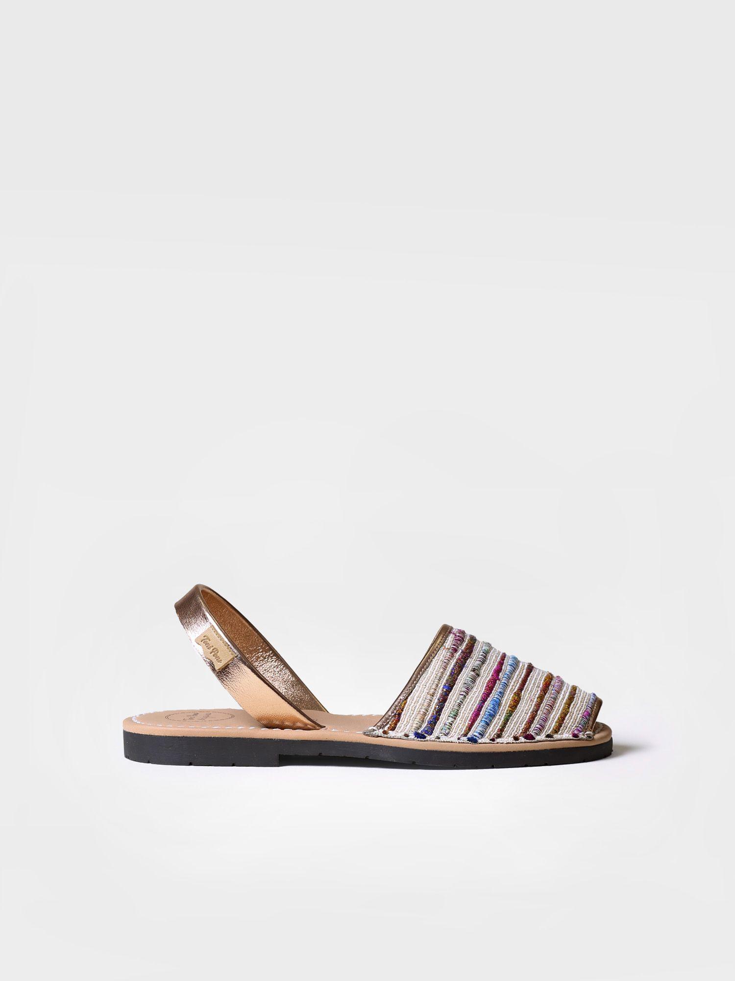 Striped avarca sandals - MAO-SN