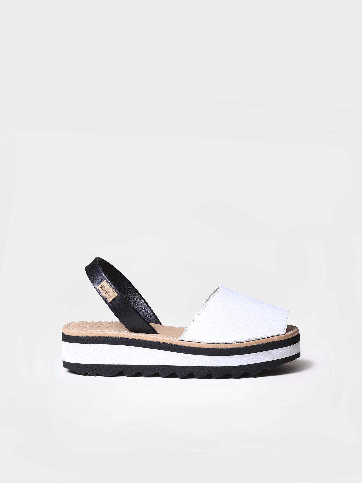 Leather avarca sandal - SOLLER-P