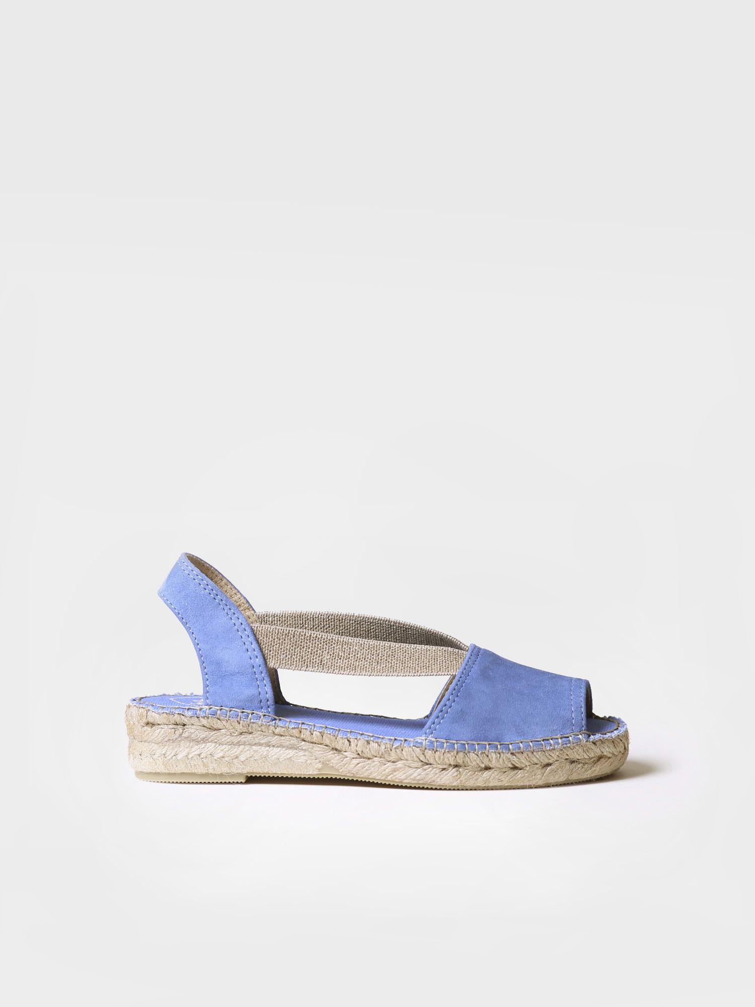 Suede flat sandal - ELLA
