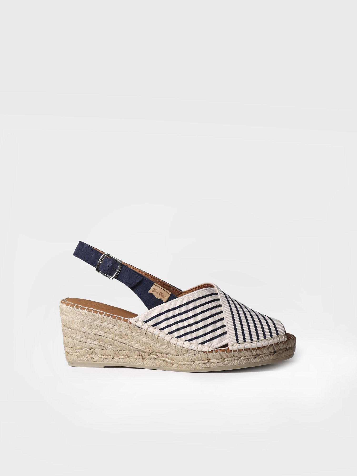 Peep toe espadrille in stretch fabric - TEIA