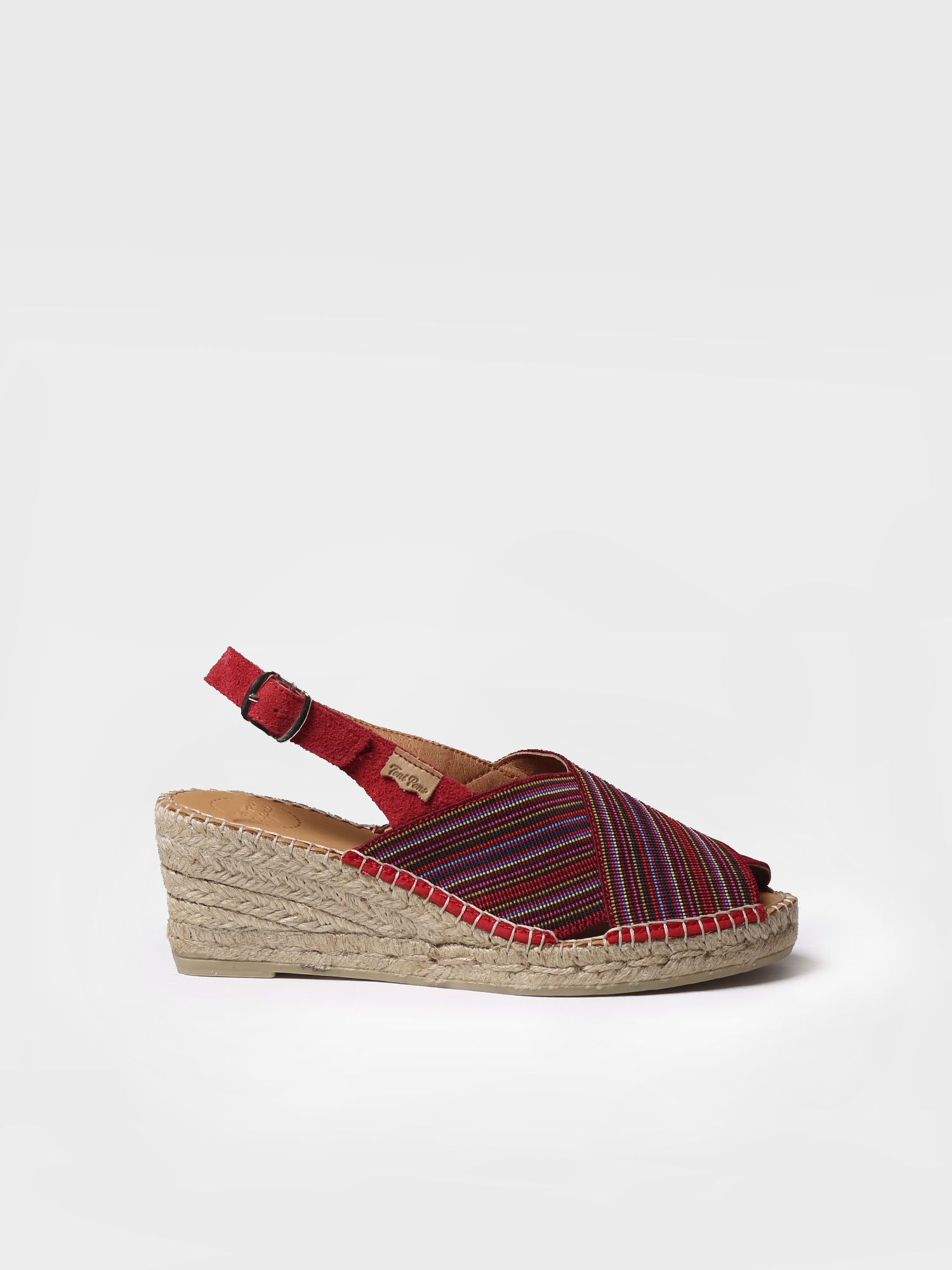 Peep toe espadrille in stretch fabric - TEIA