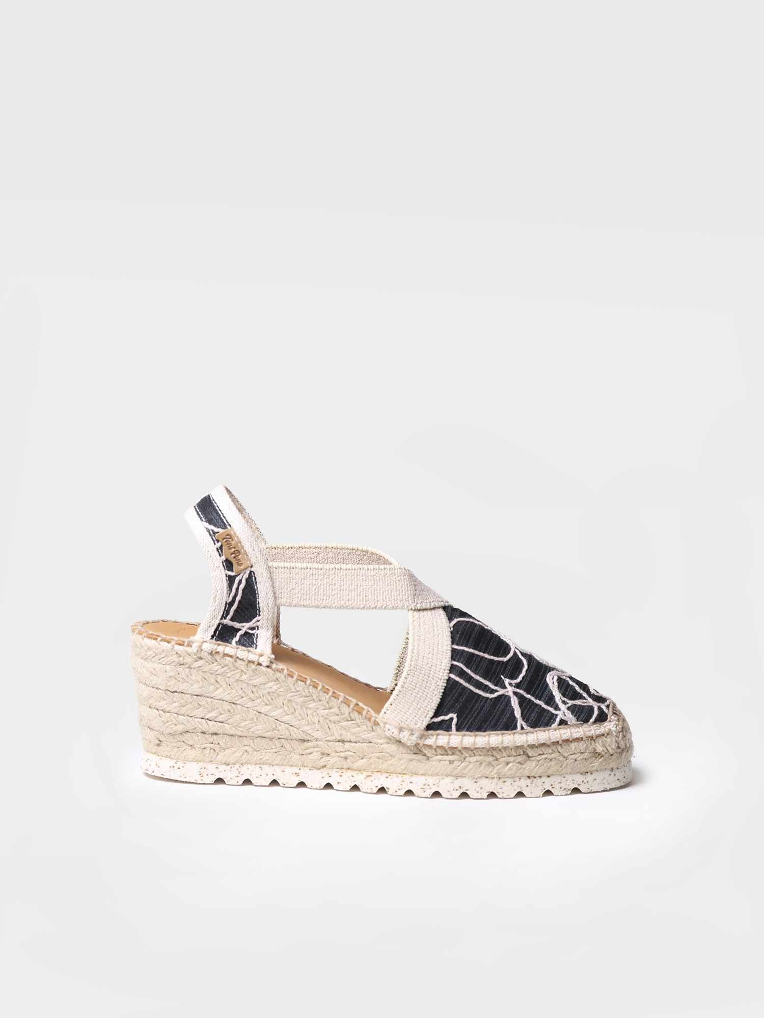 Classic espadrille in embroidered fabric - TERRA-TA