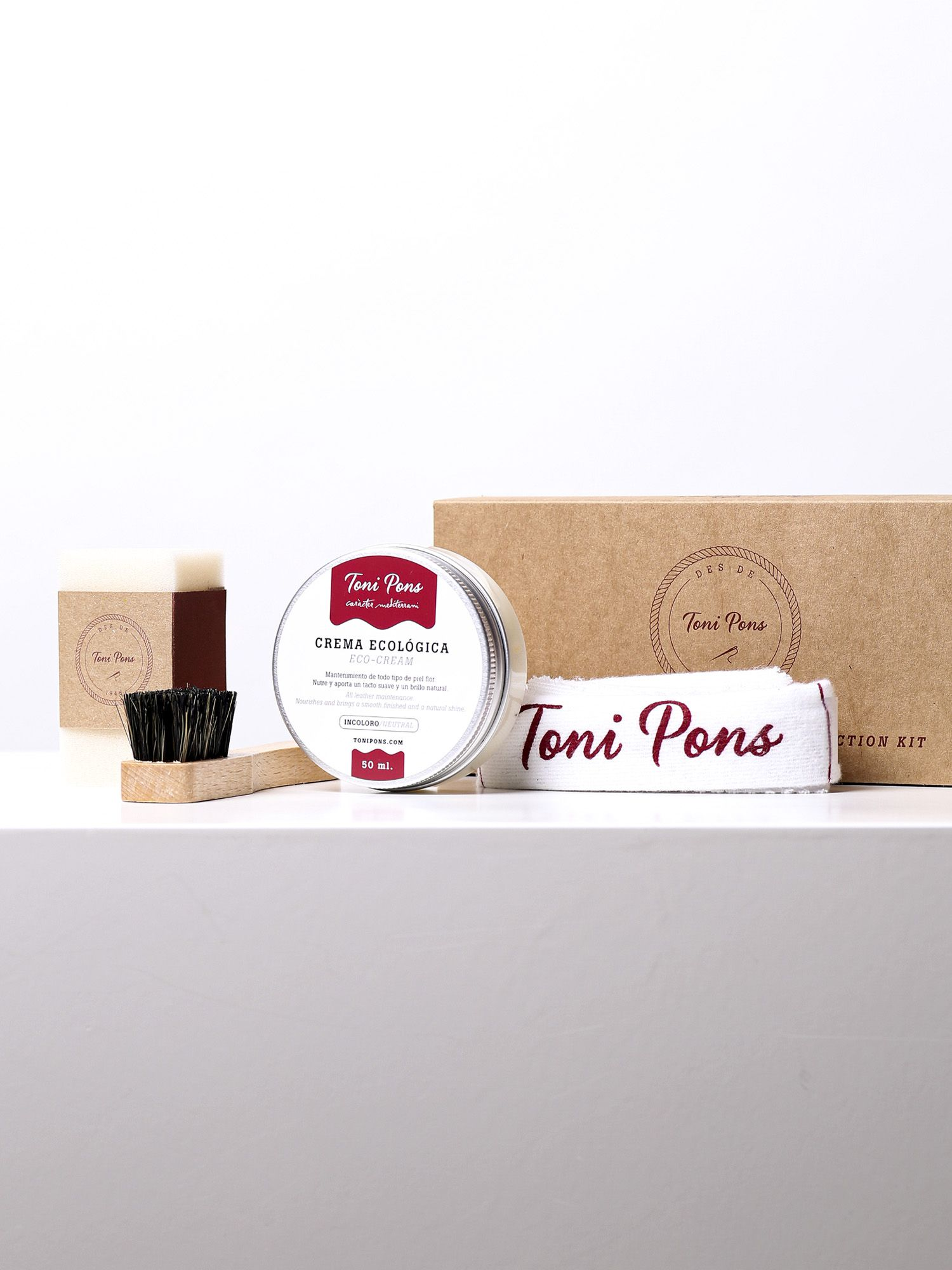 KIT PROTECTOR - Pot 50ml protector for skin with Sponge, wiper and brush Toni Pons.