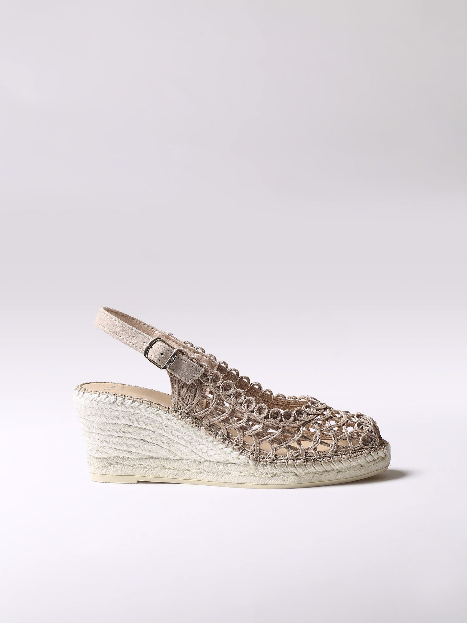 Beige leather espadrille - MELISA
